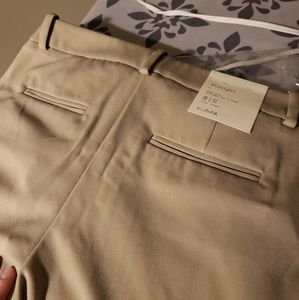 Straight Leg Bi-Stretch Twill Pants 8 Short